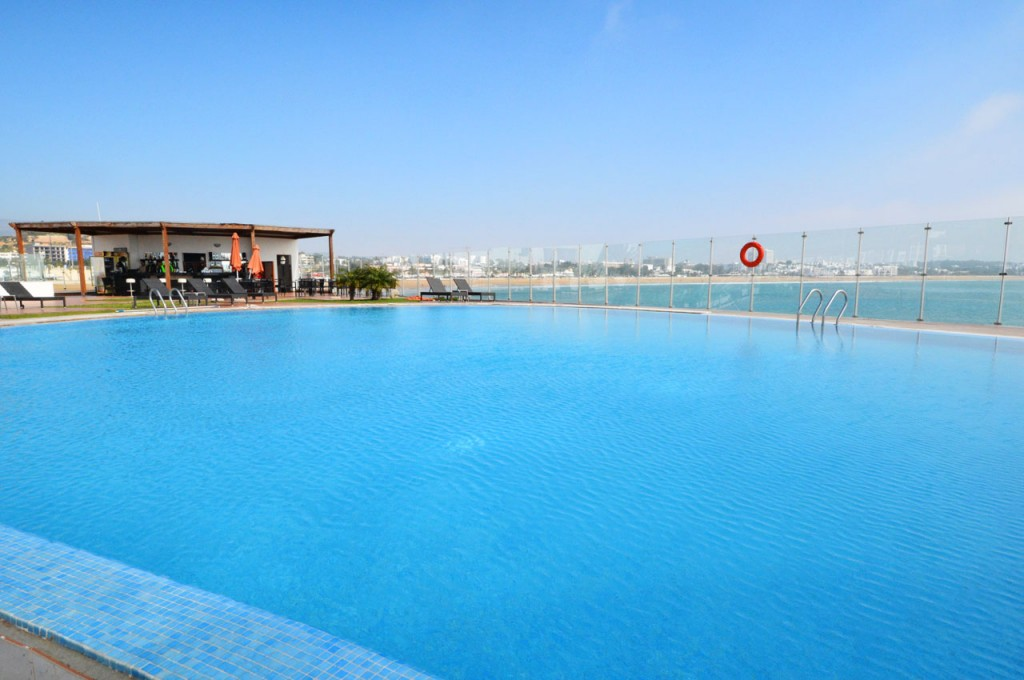 The Pool Bar on the Marina in Agadir with its huge infinity swimming pool and superb views