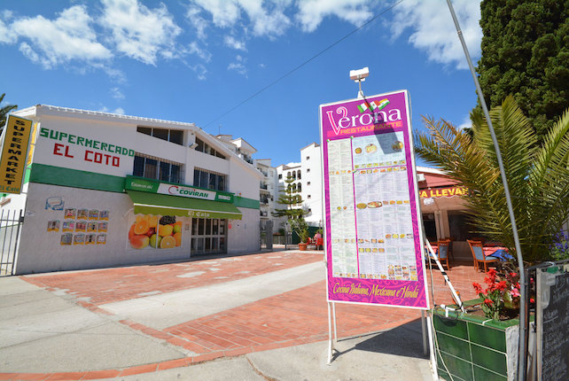 El Coto is a lovely urbanisation and perfect for your stay - pictured is El Coto Supermarket and the Verona Restaurante