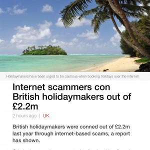 British Holidaymakers Scammed