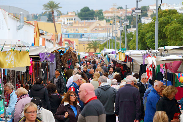 The busy Fuengirola Tuesday market - photo by Antti T. Nissinen