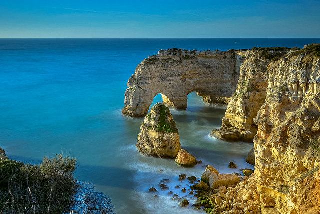Algarve beach with impressive rocky arches and cliffs - photo courtesy Luis Ascenso Photography