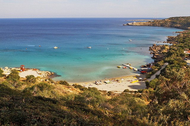 View overlooking the Konnos bay in Ayia Napa