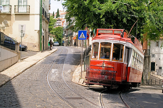 Lisbon with it's narrow streets and trams - photo courtesy Laurenz Bobke