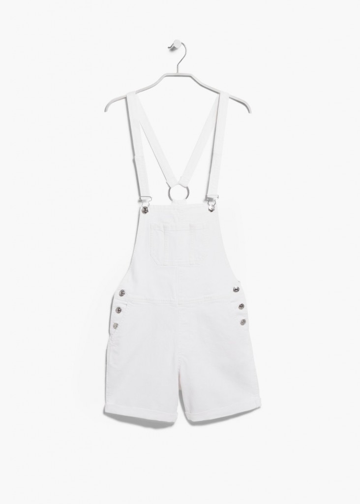 Mango White Denim Dungarees - £34.99