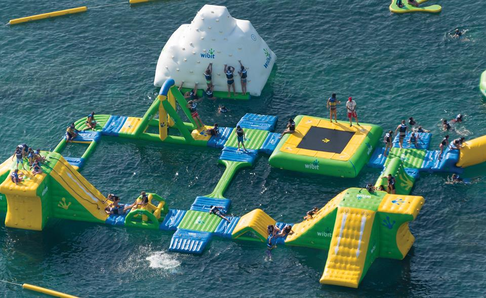 Mijas floating waterparks, a superb obstacle course for kids - photo courtesy www.clublacostaworld.com