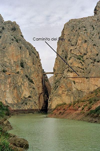 Caminito del Rey path from a far