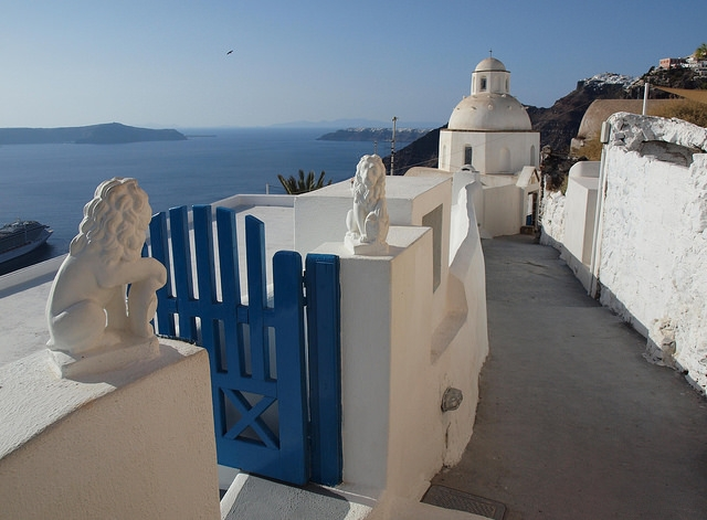 Fira, the capital with amazing panoramic views