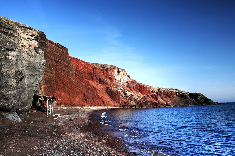 Red beach, famous for its iron rich sand