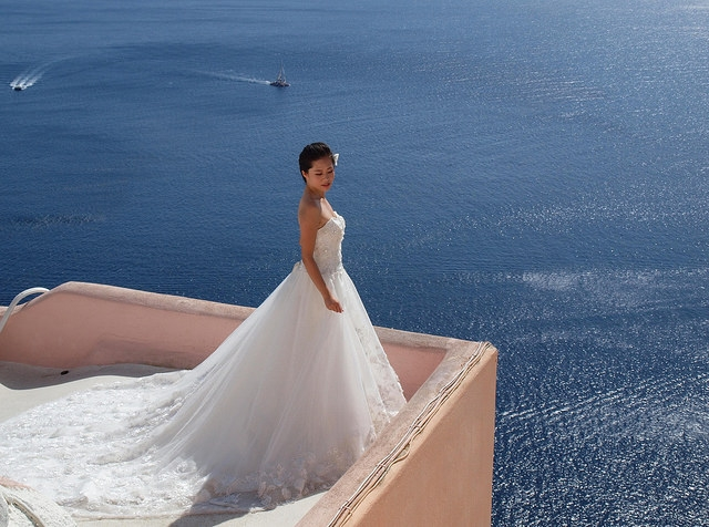 Santorini proves a popular destination for weddings