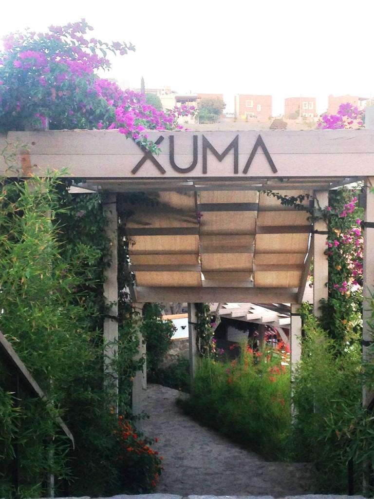 Entrance to Xuma Beach Club in Yalikavak