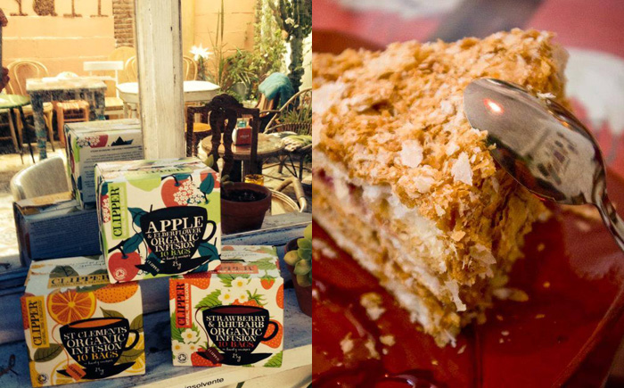 Pan y Chocolate in Fuengirola, enjoy their delicious range of organic teas and sumptuous cakes