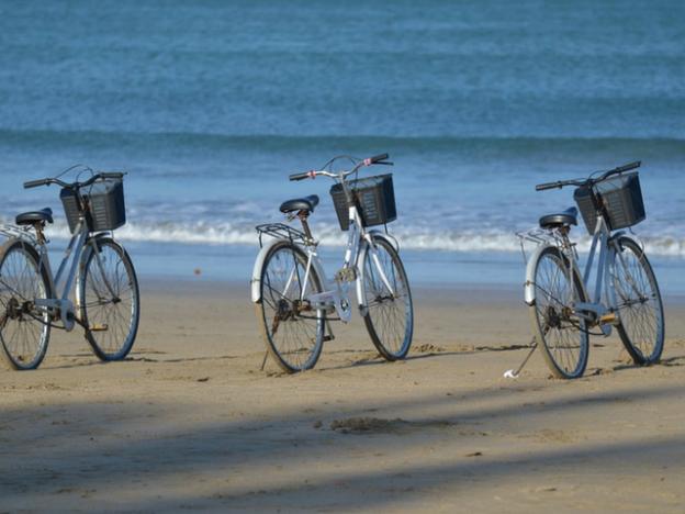 Ride along the many beachside promenades along the coast