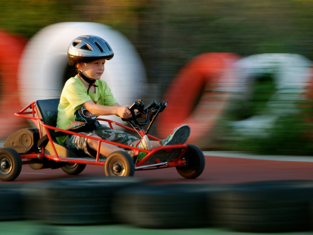Try go karting; great for little kids and big kids too!