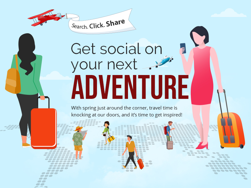 travel industry infographic social media
